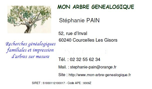 carte visite genealogique